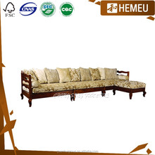 SF3014 Antique color 1+2+4 solid wood sofa set online shopping