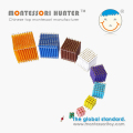 Colored Bead Cubes of Mathematics Montessori School Toys