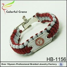 Yiwu fashion lucky metal charms for paracord bracelets