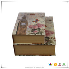 recycled book shaped cardboard paper box packaging rigid gift package boxes set