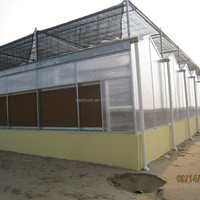 Commercial Flower Vegetable Polycarbonate Greenhouse