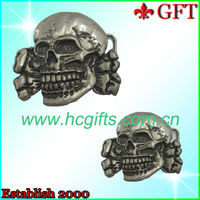 Customized metal cowboy skull belt buckles in china