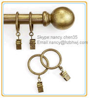 2014 New Sign Cheap And Good Quality Home Use Decorative Resin Finial Curtain Rod
