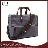Wholesale Waterproof Business Bag Briefcase With Leather Trim For Man