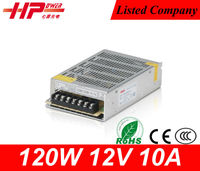 CE approved adjustable ac/dc power supply 120W 12V 10A