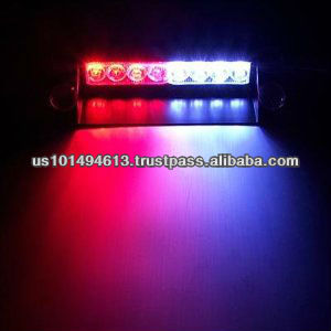 8 LED Visor Dashboard Emergency Strobe Lights Red/White