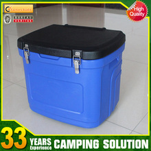 24L High quality PU insulated trolley cooler box for sale with wheels