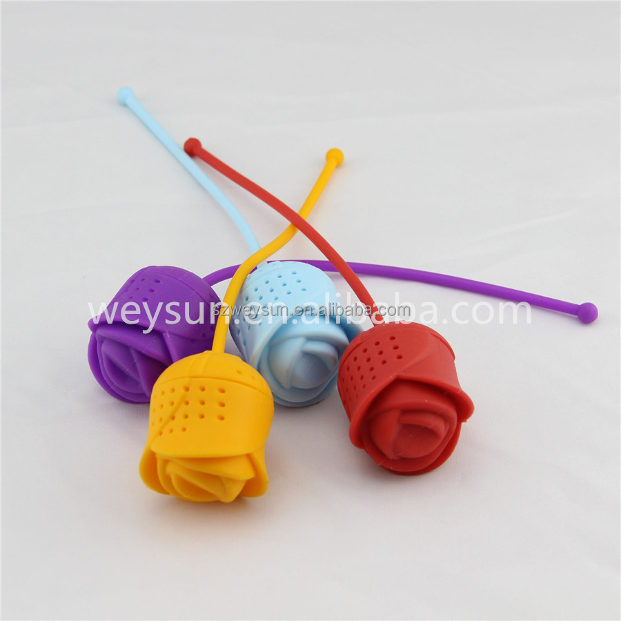 Silicone Rose Design Tea Strainer Herbal Spice Infuser