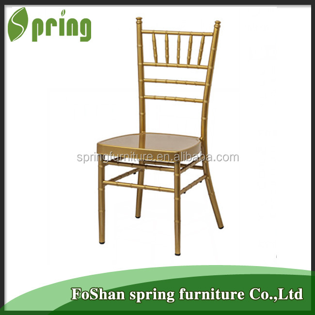 JD-09S Wholesale metal stackable cheap wedding chairs Chivari chairs