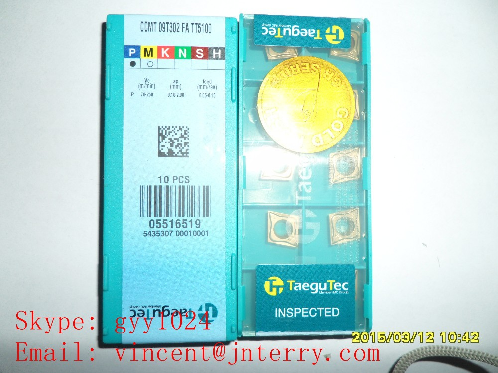 Tungsten carbide inserts with various Brand Taegutec CCMT09T302 FA TT5100