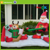 outdoor santa playing hockey christmas inflatable ice hockey stick factory
