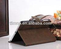 Cute book design pu stand leather case for ipad mini