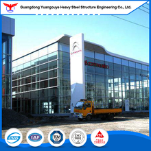 Prefabricated light gauge steel structure 4s car show room/ prefab house for Benz exhibition hall