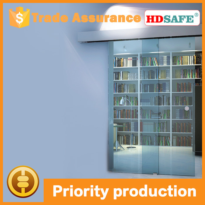 aluminum sliding glass door fixed in ceiling or wall, glass interior sliding door
