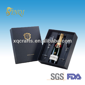 Wholesale paper gift boxes for wine glasses