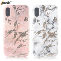 For iPhone X Case Protective pc tpu electroplating IMD Laser Marble Phone Case for iPhone 10 Marble Printing IMD case