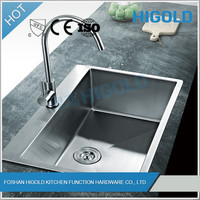 Cupc certificate 18 gauge stainless steel single lever sink mixer