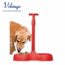 wholesale PP handy convenient No bend pet dog cat food bowl feeder with handle