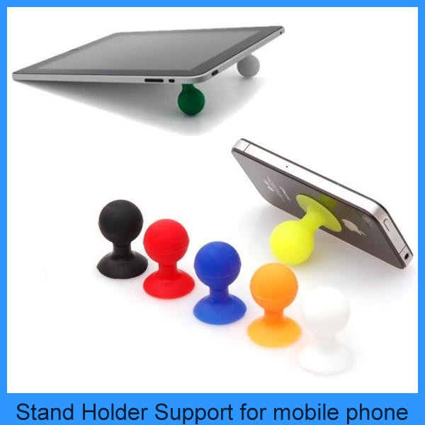 Mini Universal Rubber Silicone Stand Mobile Phone Holder Support For Cell Phone iPhone 4 iphone 5 Samsung iPad