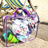 Large Clear Plastic Zip Bags for Toy Travel Craft Cosmetics Storage Beach Bag