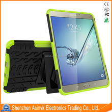 Tpu+Pc Dual Layer Hybrid Armor Shockproof Absorbent Heavy Duty case with Kickstand For Sumsang Galaxy Tab S2 8.0 Inch/T710