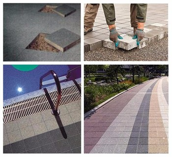 2019 beautiful durable new fashion anti-slip water permeable ceramic brick