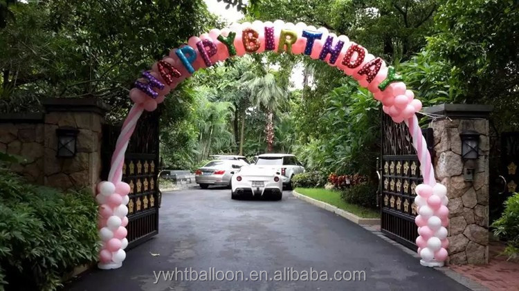 14inch Colorful Letter Balloons Happy Birthday Wholesales Party Decoration Gift Helium Balloon