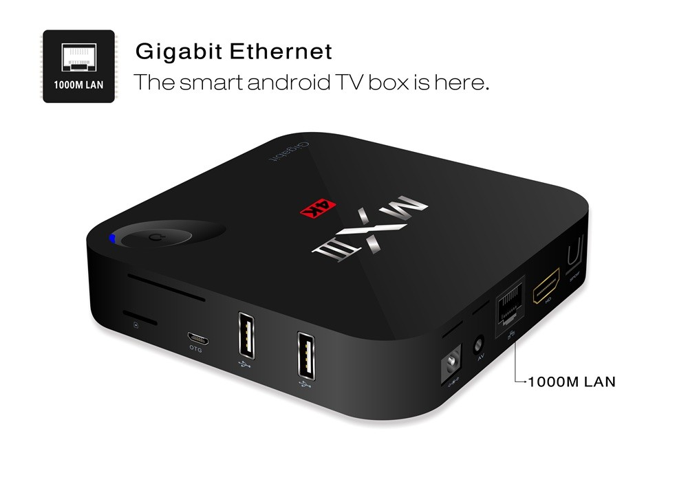 Bluetooth MXIII-G Android 5.1 Smart TV Box Quad Core Mini PC MX3-G MXIII-G 4K Amlogic S812 2.4G/5G WIFI