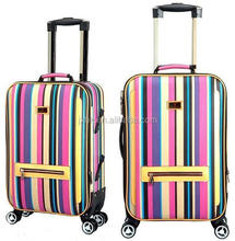 travel trolley luggage with 360 degree silent revolvable universal wheel