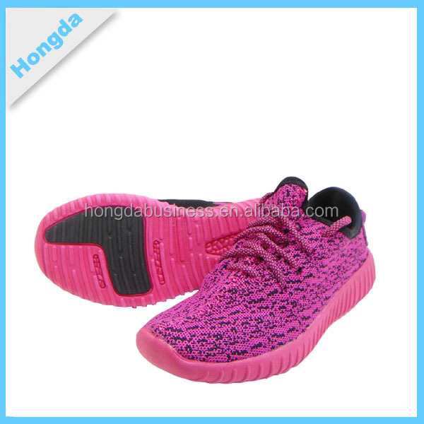 Sport casual breathable fly walking knitted upper air shoes