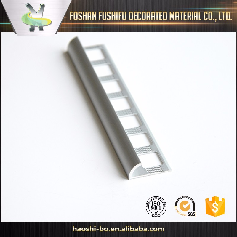 Tile accessories factory decorative brushed sliver and gold aluminum 6063 chrome metal strips