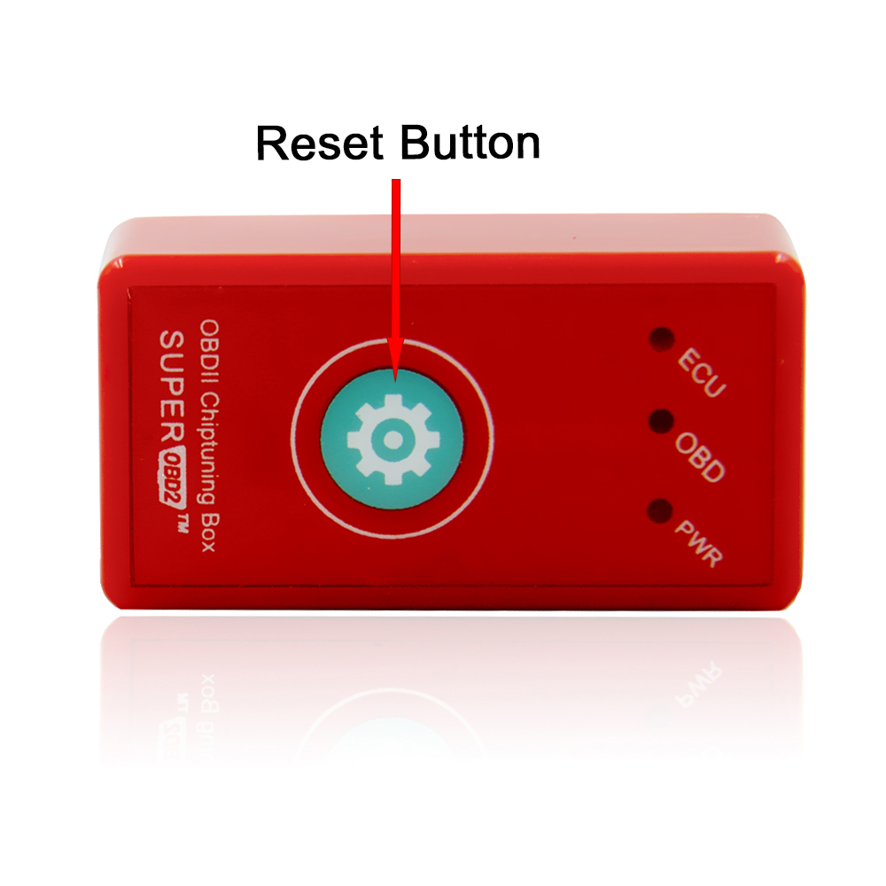 Red Color Diesel Cars Super Obd2 Tuning Chip Car ECU Chip Tuning Box With Reset Button