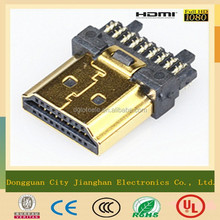 Hot Sale 19 Pin HDMI A Type Male Solder Connector
