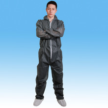 Hot sell disposable protective coverall, 40g polypropylene disposable coveralls with hood