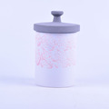 painting designs ceramic jar with lid wholesale