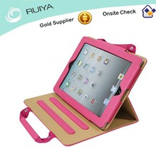 Superior Fashion Handbag Style Leather Stand Case for Tablet Computer, Leather Tablet Personal Computer Holder