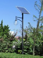 3M pole CE proved solar garden lamp 10W LED bulb