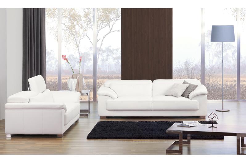 2017 italian new style metal frame modern white leather sofa set