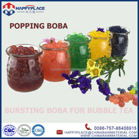 popping pearl balls for frozen yogurt, fruit popping boba, juice filled jelly ball