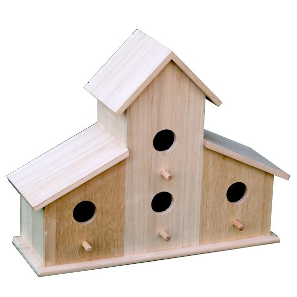 Eco-friendly FSC Stand Dry Wooden Carved Bird House
