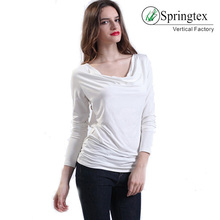 2018 spring white women long sleeve blouse womans fashionable t-shirt
