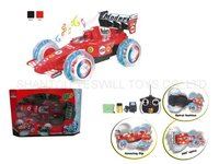 plastic promotion toy R/C toys electronic stunt sports car with light and music