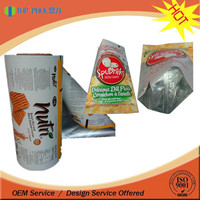 Customized printing aluminum foil chips packaging roll film bags / biscuits packaging roll film bags