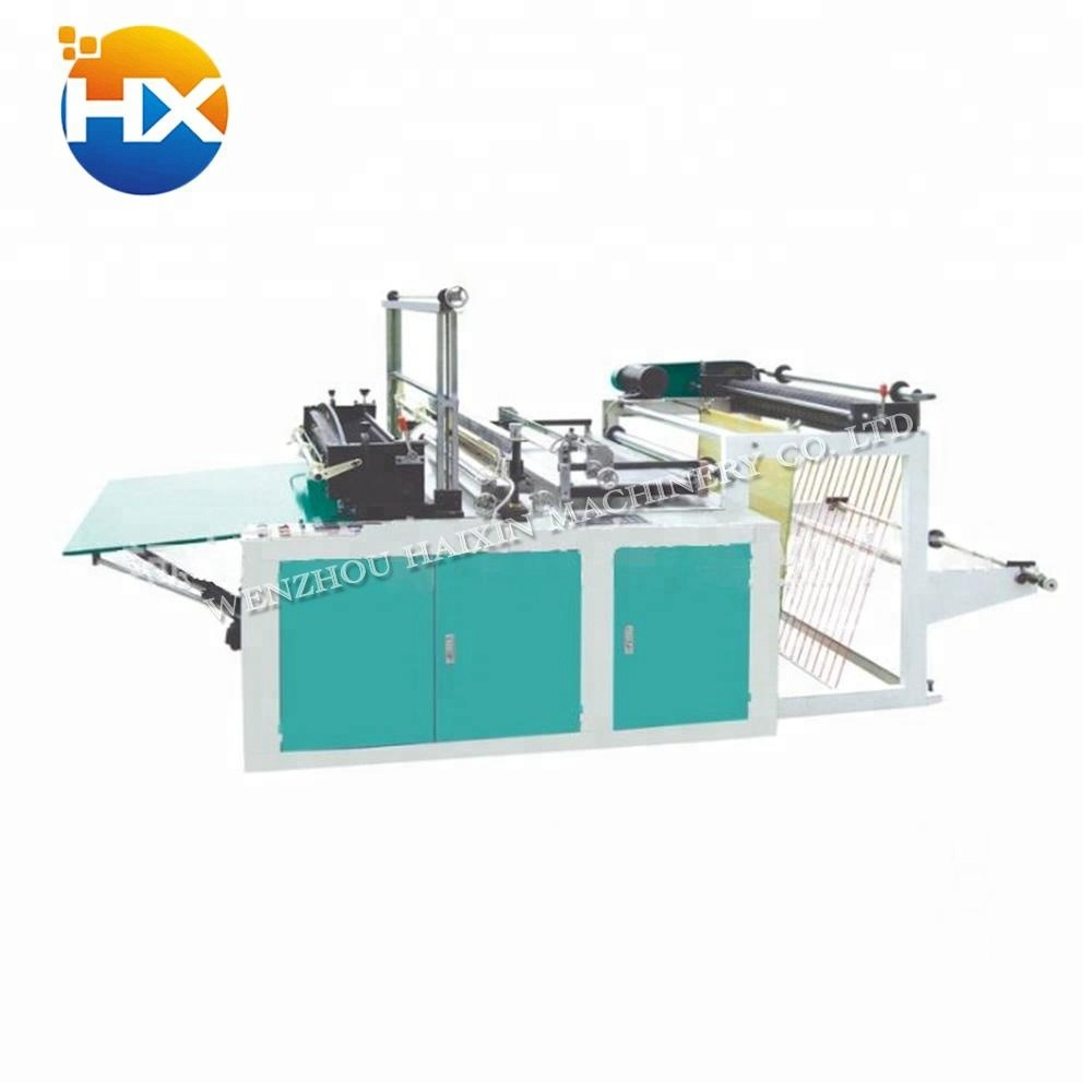 High density polyethylene heat cutting and sealing waterproof poly bag making machine