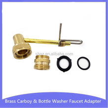 Brass Carboy & Bottle Washer Faucet Adapter, Home Brew Water Jet Beer Making