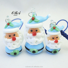 OBA- Lovely Glass Santa Claus,Wholesale Christmas Decorations, Multicolor Santa Claus