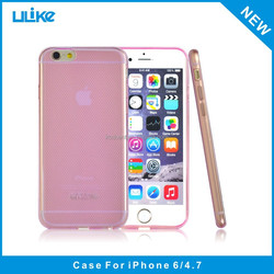 Cell phone ultra thin silicone 0.3mm clear custom tpu case for iphone 6