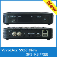 vivobox s926 hd FTA receiver satellite f free iks/sks nagra 3 receptores better than azbox bravissimo tocomsat duplo hd