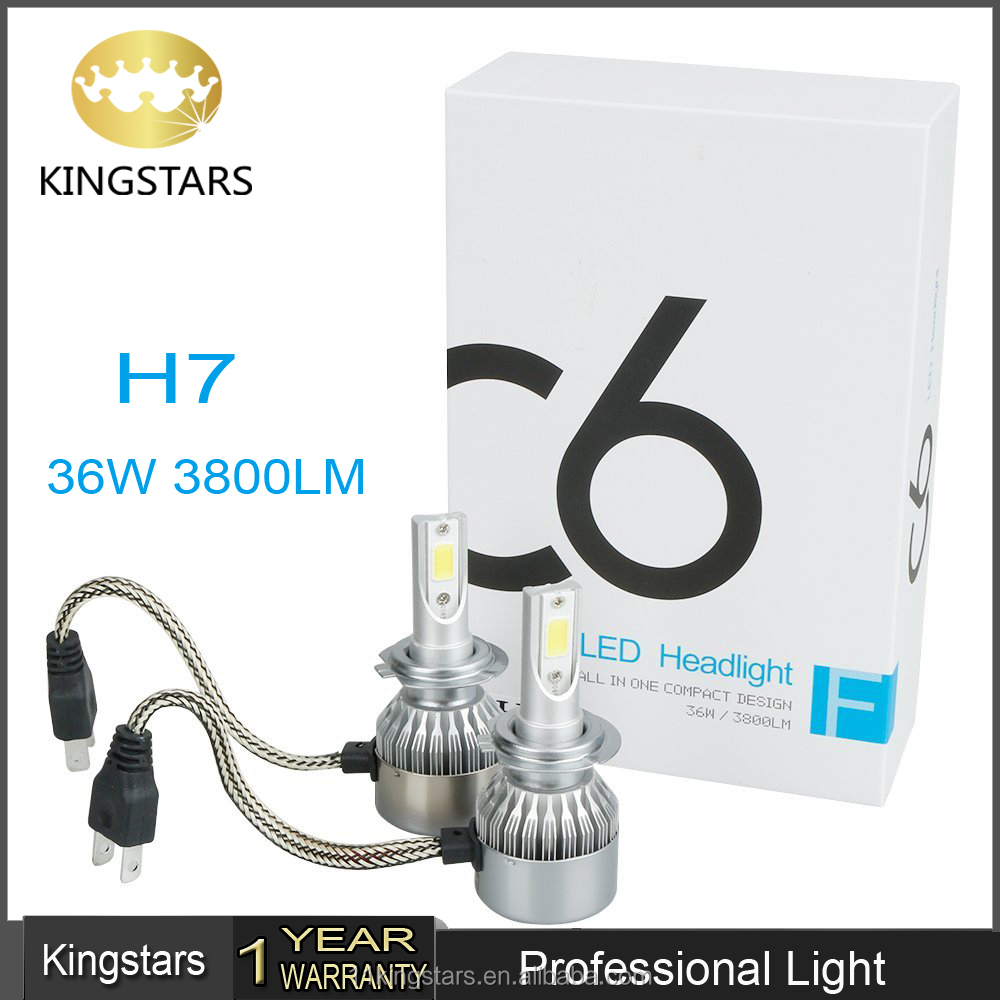 new led h7 headlight 72W c6 led lighting bulb car and motorcycle led headlight