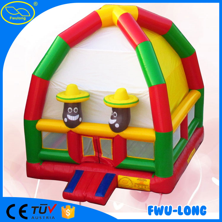 Funny and crazy cheap supermarket kids bouncy castle